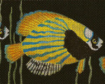 BF74SKU Lee's Needle Arts Something Fishy - Leigh Design Exclusive  Hand-painted canvas - 13 Mesh 2011 10.25in x 8.25in