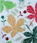 BG101SKU Lee's Needle Arts Autm Leaves Hand-painted canvas - 18 Mesh