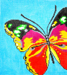 BG71SKU Lee's Needle Arts Butterfly Hand-painted canvas 18 Mesh