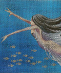 BG89SKU Lee's Needle Arts Deep Blue - Leigh Design Exclusive Hand-painted canvas - 18 Mesh