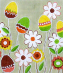 BG102 Lee's Needle Arts Easter Flowers Hand-painted canvas - 18 Mesh