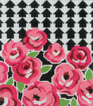 BG79SKU Lee's Needle Arts Roses Up Hand Painted Canvas - 18 Mesh