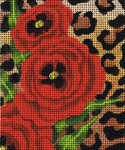 BG114SKU Lee's Needle Arts Spotted Poppies - Leigh Design Exclusive  Hand-painted canvas - 13 Mesh
