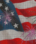 BG95SKU Lee's Needle Arts Independence Day - Leigh Design Exclusive  Hand-painted canvas - 18 Mesh