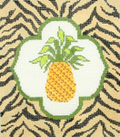 BG108SKU Lee's Needle Arts Pineapple Hand-painted canvas - 18 Mesh
