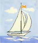 BG107SKU Lee's Needle Arts Sailing Hand-painted canvas - 18 Mesh