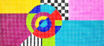 BR41 Lee's Needle Arts Geometric Hand-painted canvas - 18 Mesh 8.25in. X 4in.
