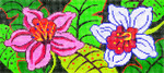 BR30SKU Lee's Needle Arts Jungle Orchids Hand-painted canvas - 18 Mesh 8.25in. X 4in.