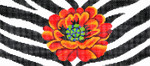 BR36SKU Lee's Needle Arts Poppy/Animal Skin Hand-painted canvas - 18 Mesh 8.25in. X 4in.