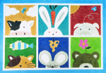 R1037 Lee's Needle Arts 6 Animals Hand-painted canvas - 12 Mesh 30X21 mln