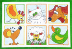 R1039 Lee's Needle Arts Children`s Rug Hand-painted canvas - 12 Mesh 33X33