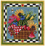 KC-KWP10A Summer's Bounty Basket 4.6 x 4.6 18 Mesh With Stitch Guide KELLY CLARK STUDIO, LLC