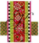 """KC-KCCX25-18 Red Swirls & Wintergreen 3.5""""w x 4""""h 18 Mesh KELLY CLARK STUDIO, LLC"""