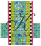 "KC-KCCX22-18 Limed Flakes & Swirls 3.5""w x 4""h 18 Mesh KELLY CLARK STUDIO, LLC"