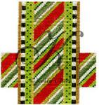 "KC-KCCX14-18 Striped Christmas Crunch Bar 3.5""w x 4""h 18 Mesh KELLY CLARK STUDIO, LLC"