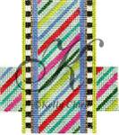 "KC-KCCX4-18 Light Candy Stripes 3.5""w x 4""h 18 Mesh KELLY CLARK STUDIO, LLC"