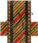 "KC-KCCX2-18 Ochre Candy Stripe 3.5""w x 4""h 18 Mesh KELLY CLARK STUDIO, LLC"