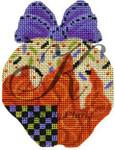 "KC-KCN 1704 Halloween Tangerine Swirls 3.75""w x 4.25""h 18 Mesh KELLY CLARK STUDIO, LLC"