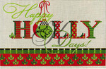"KC-KCA 9020 Happy Holly Days 13""w x 8""h 18 Mesh KELLY CLARK STUDIO, LLC"