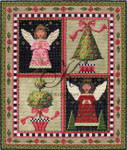 "KC-KCN170-18 Angels & Topiaries Pillow 9.25""w x 11.25""h 18 Mesh KELLY CLARK STUDIO, LLC"