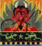 "KC-KCN9151 Devil-n-Flames 2.95""w x 3.125""h 18 Mesh KELLY CLARK STUDIO, LLC"