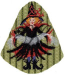 "KC-KAH13-18 Alexis Arachnoid 5""w x 6""h 18 Mesh With Stitch Guide KELLY CLARK STUDIO, LLC"