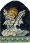 "KC-KAH19-18 The Littlest Angel 3""w x 4.5""h 18 Mesh With Stitch Guide KELLY CLARK STUDIO, LLC"
