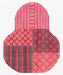 "KC-KCN1427 Christmas Red Pear Pear 3.5""w x 4.5""h 18 Mesh KELLY CLARK STUDIO, LLC"