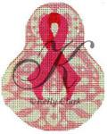 "KC-KCN1420 Pink Ribbon Pear 3.5""w x 4.5""h 18 Mesh KELLY CLARK STUDIO, LLC"