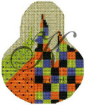 """KC-KCN1423 Checkered Madness 3.5""""w x 4.5""""h 18 Mesh With Stitch Guide KELLY CLARK STUDIO, LLC"""