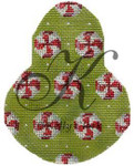 "KC-KCN1409 Peppermint Candies on Anjou 3.5""w x 4.5""h 18 Mesh With Stitch Guide KELLY CLARK STUDIO, LLC"