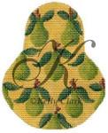 "KC-KCN1402 Anjou Pears 3.5""w x 4.5""h 18 Mesh With Stitch Guide KELLY CLARK STUDIO, LLC"