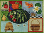 "KC-KCA021-18 Sweet Pea Sampler 8.6"" w x 5.6"" h 18 Mesh KELLY CLARK STUDIO, LLC"