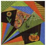 "KC-KCA013 Halloween Crazy Quilt 7.8"" square 18 KELLY CLARK STUDIO, LLC"