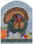 "KC-KPF15 Wild Turkey 4.5""w x 6.25""h 18 Mesh KELLY CLARK STUDIO, LLC"