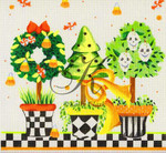 "KC-KCN906 Spook-Tac-U-lar Topiary 9"" square 18 Mesh KELLY CLARK STUDIO, LLC"