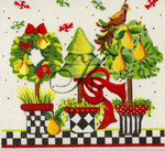 "KC-KCN907 Peary Christmas Topiary 9"" square 18 Mesh KELLY CLARK STUDIO, LLC"