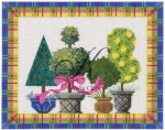 "KC-KCN90 Springtime Topiaries 10""w x 8""h 14 Mesh KELLY CLARK STUDIO, LLC"