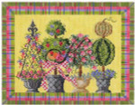 """KC-KCN901 Summertime Topiaries 10""""w x 8""""h 14 Mesh With Stitch Guide KELLY CLARK STUDIO, LLC"""