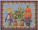 "KC-KCN902 Autumn Topiaries 10""w x 8""h 14 Mesh With Stitch Guide KELLY CLARK STUDIO, LLC"