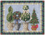 "KC-KCN903 Winter Topiaries 10""w x 8""h 14 Mesh With Stitch Guide KELLY CLARK STUDIO, LLC"