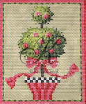 "KC-KCN93 Double Ball Topiary 4.75""2 x 6.25""h 13  Mesh With Stitch Guide KELLY CLARK STUDIO, LLC"