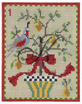 "KC-KCN1-18 A Partridge in a Pear Tree 3.5""w x 4.5""h 18 Mesh KELLY CLARK STUDIO, LLC"