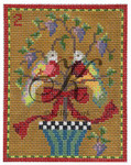 "KC-KCN2-18 Two Turtle Doves 3.5""w x 4.5""h 18 Mesh KELLY CLARK STUDIO, LLC"