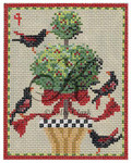 "KC-KCN4-18 Four Calling Birds 3.5""w x 4.5""h 18 Mesh KELLY CLARK STUDIO, LLC"