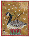 "KC-KCN6-18 Six Geese-A-Laying 3.5""w x 4.5""h 18 Mesh KELLY CLARK STUDIO, LLC"