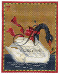 "KC-KCN7-18 Seven Swans-A-Swimming 3.5""w x 4.5""h 18 Mesh KELLY CLARK STUDIO, LLC"
