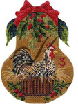 "KC-KPF3-18 Three French Hens 4""w x 5""h 18 Mesh With Stitch Guide KELLY CLARK STUDIO, LLC"