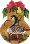 "KC-KPF6-18 Six Geese-A-Laying 4""w x 5""h 18 Mesh With Stitch Guide KELLY CLARK STUDIO, LLC"