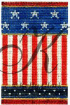"KC-KCNFC1 Classic Stripes Firecracker! 2.25""w x 3.5""h 18 Mesh With Stitch Guide KELLY CLARK STUDIO, LLC"